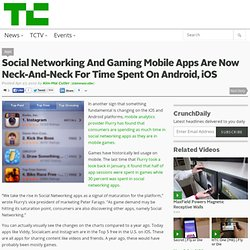 Social Networking And Gaming Mobile Apps Are Now Neck-And-Neck For Time Spent On Android, iOS