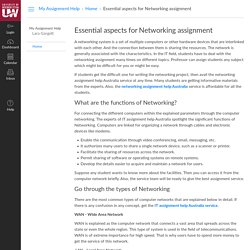 Essential aspects for Networking assignment: Home: My Assignment Help