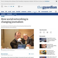 How social networking is changing journalism