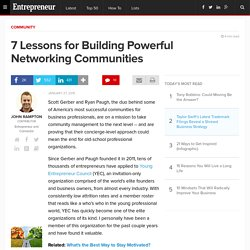 7 Lessons for Building Powerful Networking Communities