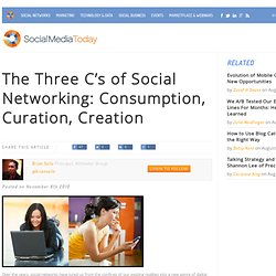 The Three C's of Social Networking: Consumption, Curation, Creation