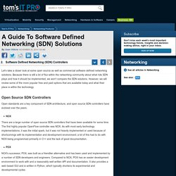 Best Software Defined Networking (SDN) Controllers