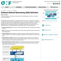 Software-Defined Networking (SDN) Definition - Open Networking Foundation