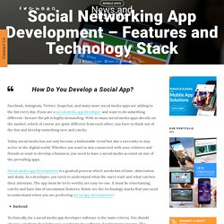 Social Networking App Development- Features and Technology Stack