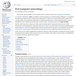 Port (computer networking)