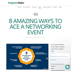 8 AMAZING WAYS TO ACE A NETWORKING EVENT - EngineerBabu