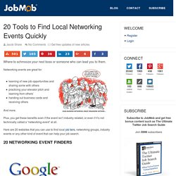 20 Tools to Find Local Networking Events Quickly