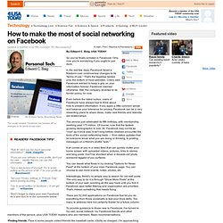 How to make the most of social networking on Facebook - USATODAY