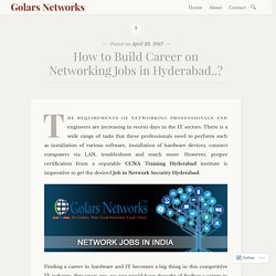 Networking Jobs Hyderabad