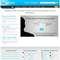 Amzini | List of 900+ Top Social Networks & Social Networking Sites