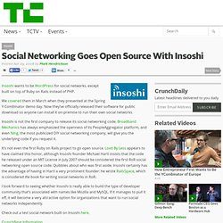 Social Networking Goes Open Source With Insoshi
