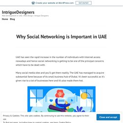 Why Social Networking is Important in UAE