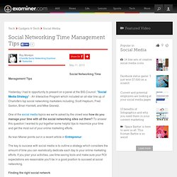 Social Networking Time Management Tips