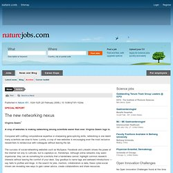 special report : science career issues and alternative jobs for scientists : Naturejobs