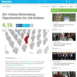 20 Online Networking Opportunities for Job Seekers
