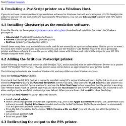 Networking HP PPA DeskJet Printers using SAMBA.: Emulating a Pos
