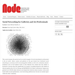 Social Networking for Gallerists and Art Professionals | Node