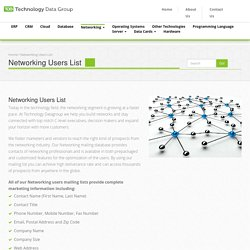 Networking Prospect Lists - Technology Data Group