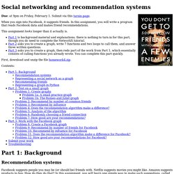 Social networking and recommendation systems