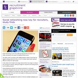 Social networking now key for recruiters, study finds
