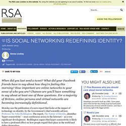 Is social networking redefining identity?
