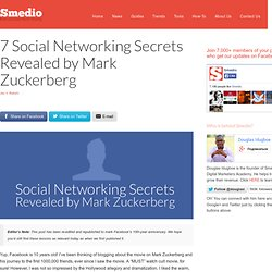 7 Social Networking Secrets Revealed by Mark Zuckerberg | Smedio | The New... - StumbleUpon