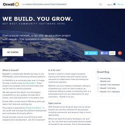 Oxwall - Free Community Software | Open Source Social Networking Software