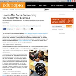 How to Use Social-Networking Technology for Learning