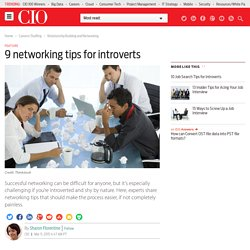 9 networking tips for introverts
