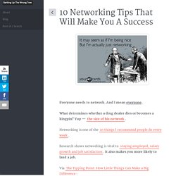 Networking Tips For Success