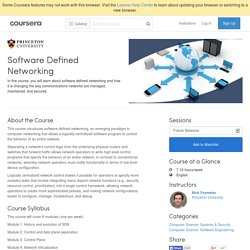 Software Defined Networking - Princeton University