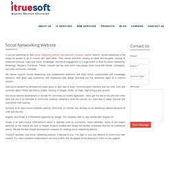 social networking website development company