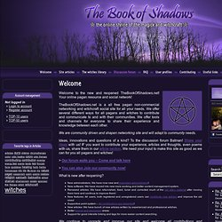 Welcome to the Book of Shadows - The Book of Shadows
