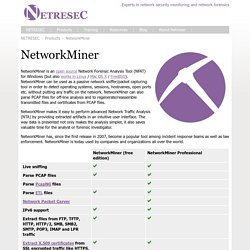 NetworkMiner - The NSM and Network Forensics Analysis Tool ⛏