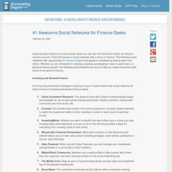 50 Awesome Social Networks for Finance Geeks
