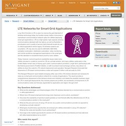 » LTE Networks for Smart Grid Applications Navigant Research