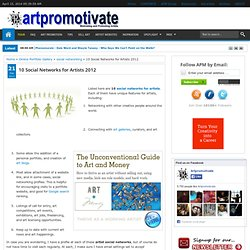 10 Social Networks for Artists 2012