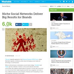 Niche Social Networks Deliver Big Results