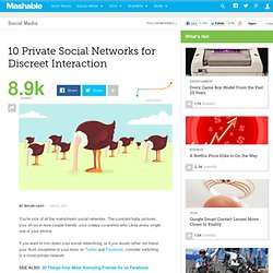 10 Private Social Networks for Discreet Interaction