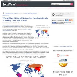 World Map Of Social Networks: Facebook & Twitter