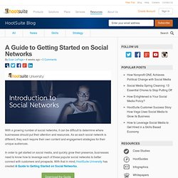 A Guide to Getting Started on Social Networks