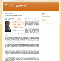 Torrid Networks: Importance of network security