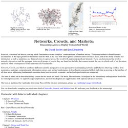 Networks, Crowds, and Markets: A Book by David Easley and Jon Kleinberg