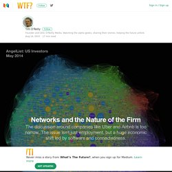 Networks and the Nature of the Firm — What's The Future of Work?