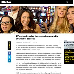 TV networks seize the second screen with shoppable content