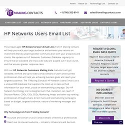 HP Technology Customers Mailing List