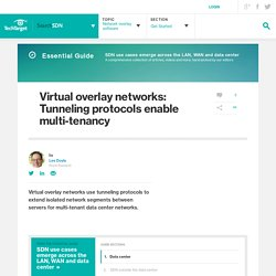 Virtual overlay networks: Tunneling protocols enable multi-tenancy