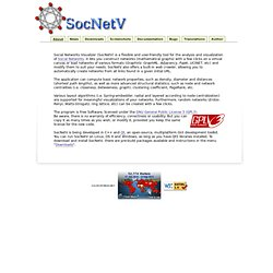 SocNetV - Social Networks Visualization and Analysis Software