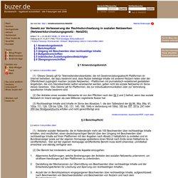 NetzDG Netzwerkdurchsetzungsgesetz