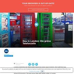 Die grüne Telefonzelle: neu in London